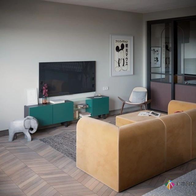92.6平米的现代装修二居室,装修设计真的很美